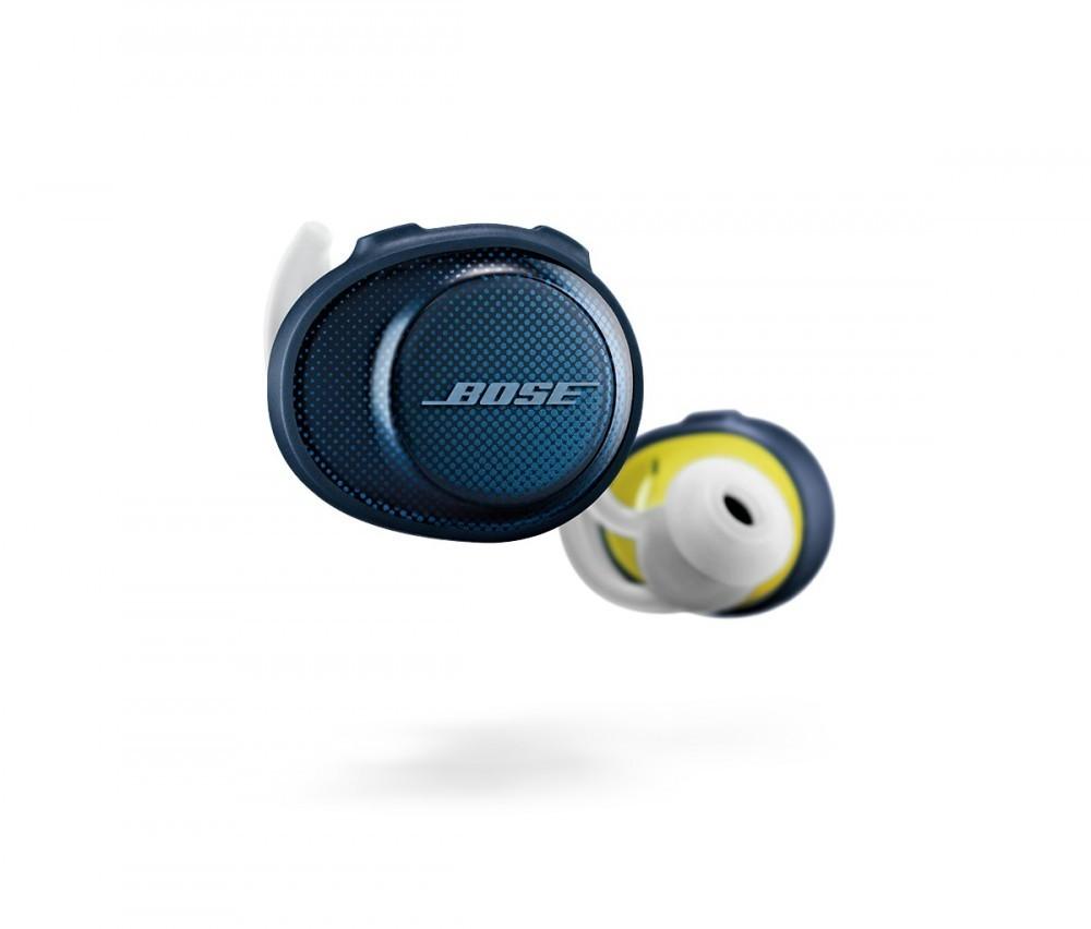 Bose SoundSport® Free trådlösa hörlurar Midnight Blue/Yellow Citron